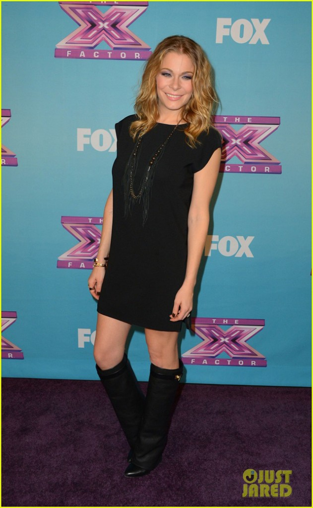 LeAnn Rimes in Nini Nguyen deep V tunic dress xfactor 2
