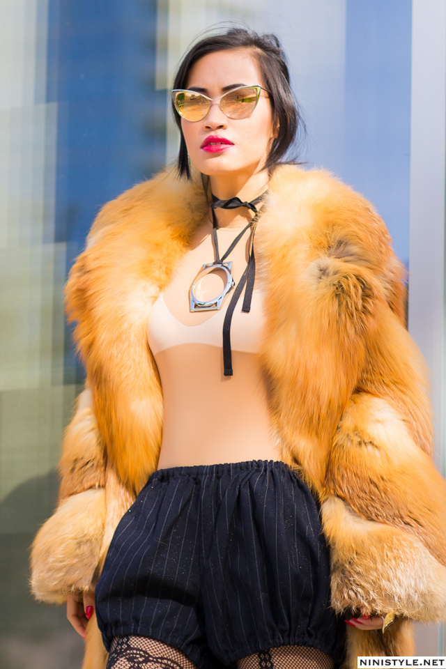 Nini Nguyen red fox fur coat7