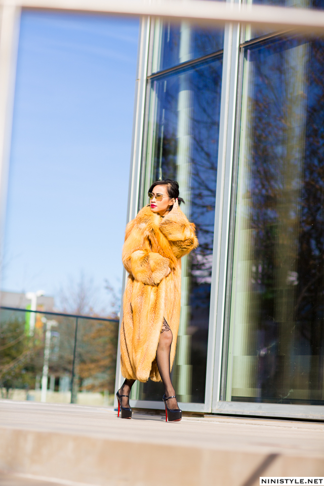 Nini Nguyen red fox fur coat9
