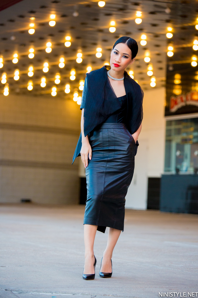 Leather Pencil Skirt | Nini's Style