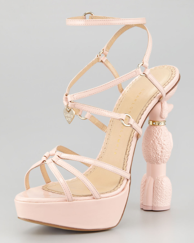Charlotte Olympia nude shoes