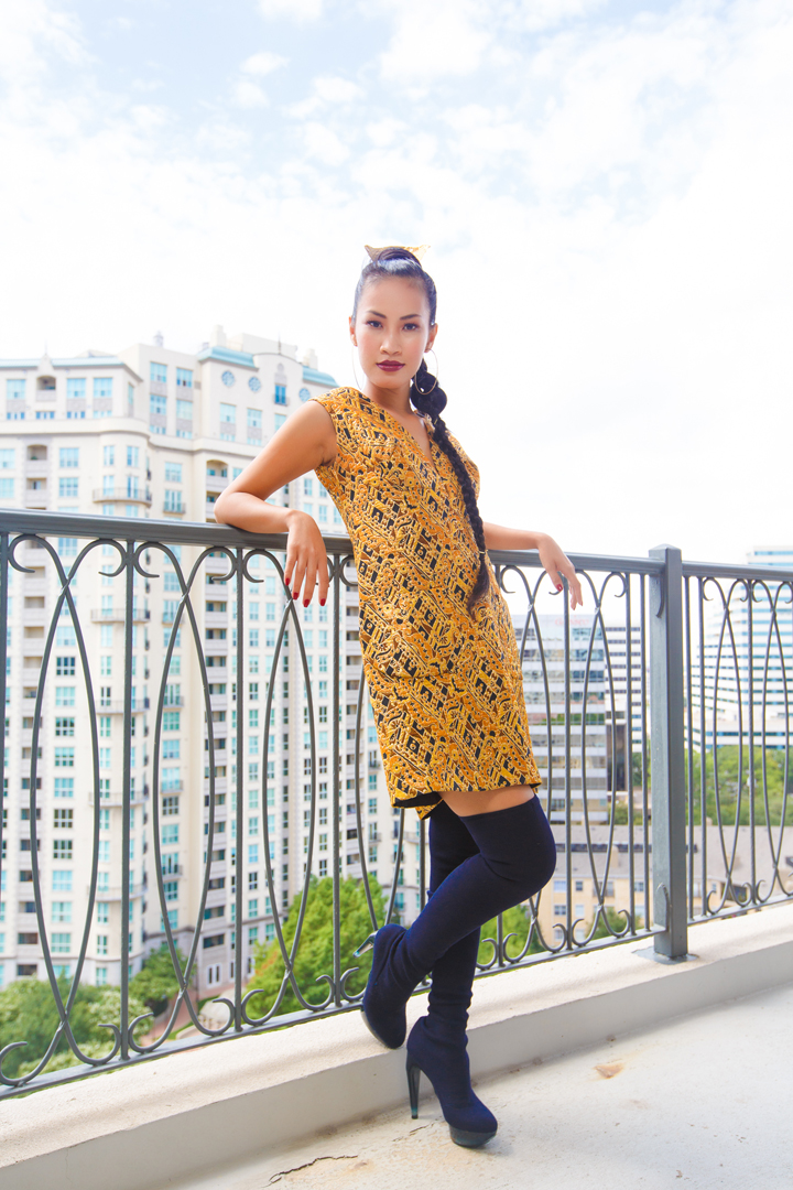 Nini Nguyen vintage gold dress2